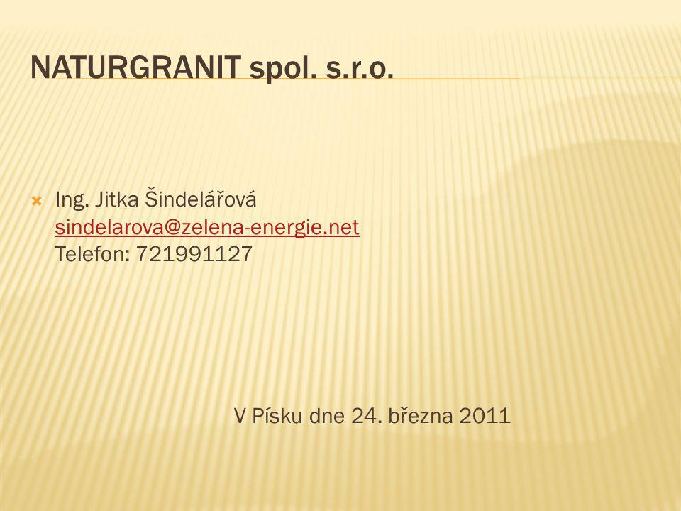 NATURGRANIT spol. s.r.o. V Písku dne 24. března 2011