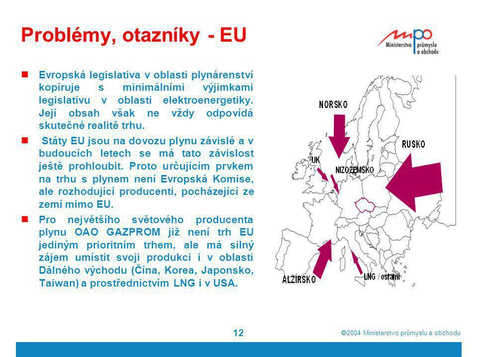 Problémy, otazníky - EU