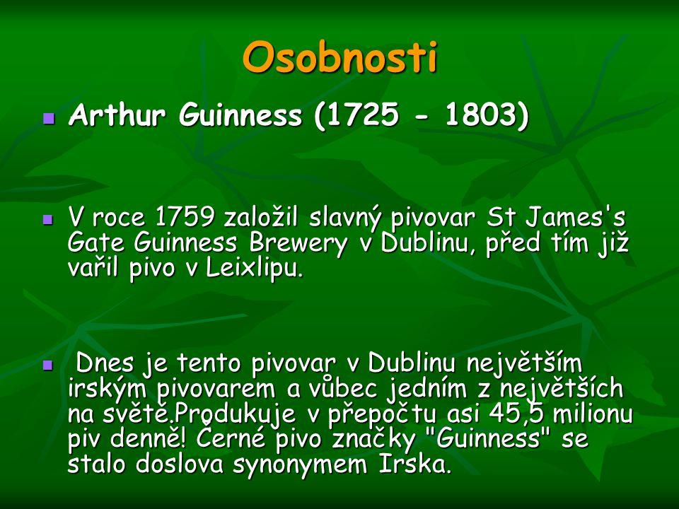 Osobnosti Arthur Guinness (1725 - 1803)