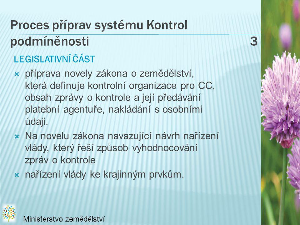 Proces příprav systému Kontrol podmíněnosti 3