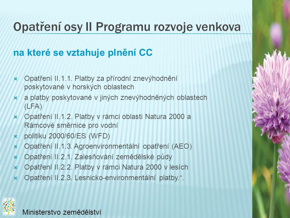 Opatření osy II Programu rozvoje venkova