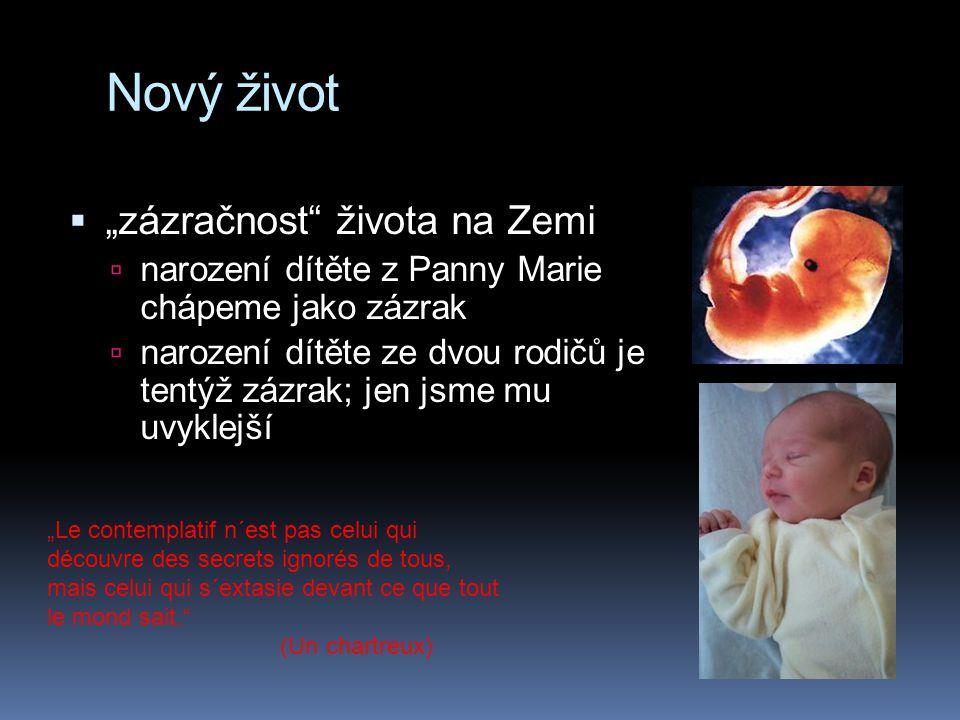 "Nový život ""zázračnost života na Zemi"