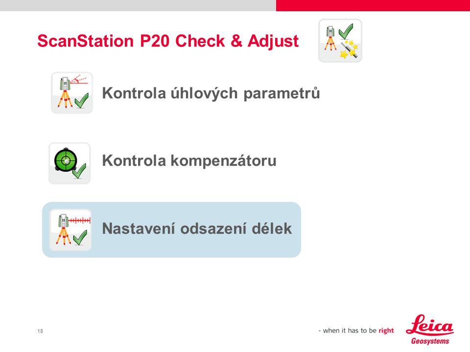 ScanStation P20 Check & Adjust