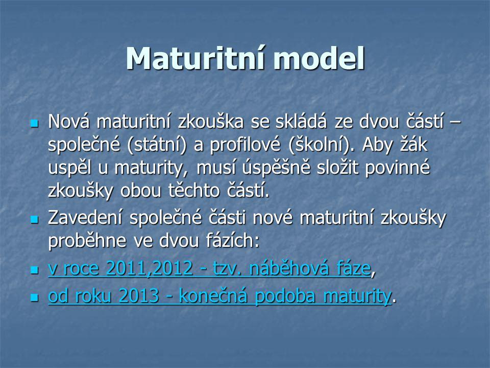 Maturitní model
