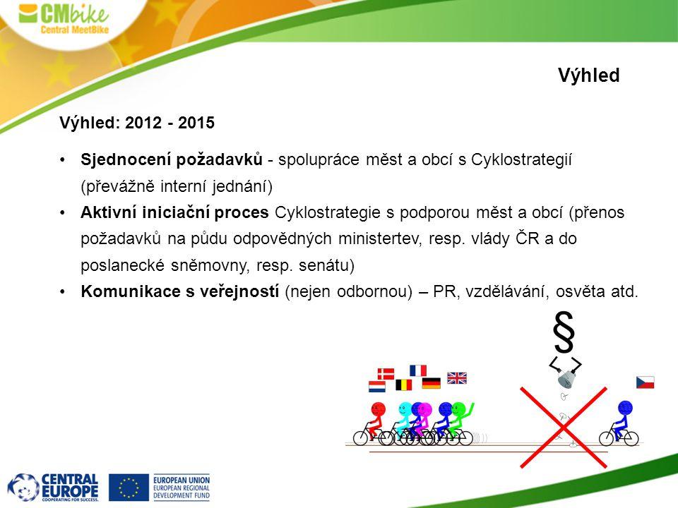 Výhled Výhled: 2012 - 2015. Sjednocení požadavků - spolupráce měst a obcí s Cyklostrategií (převážně interní jednání)