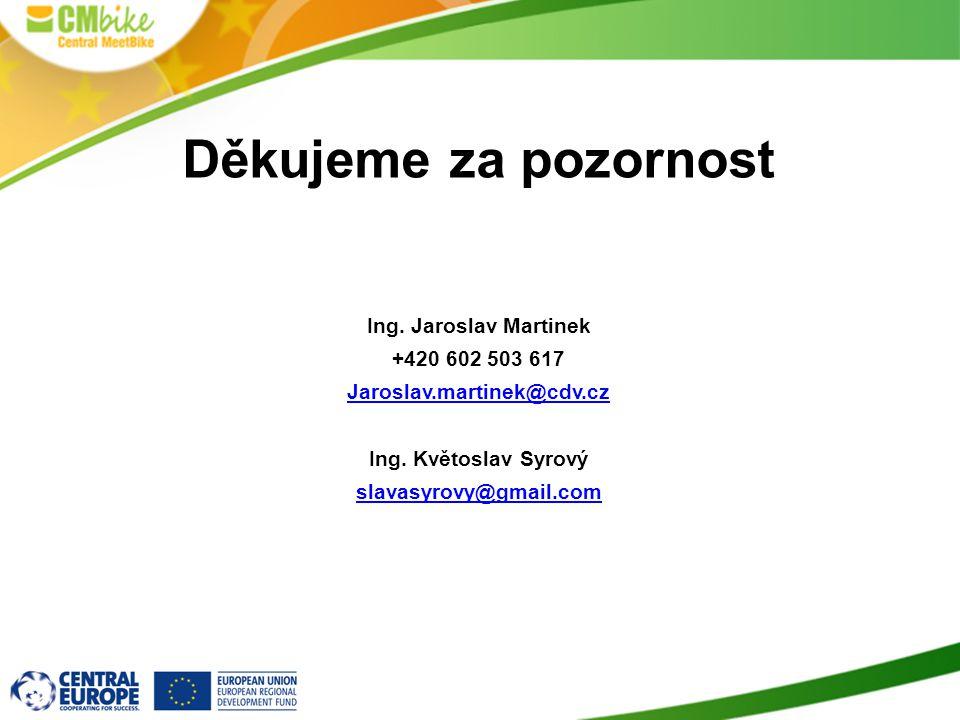 Děkujeme za pozornost Ing. Jaroslav Martinek +420 602 503 617