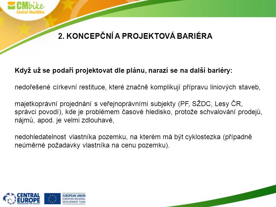 2. koncepční a projektová bariéra