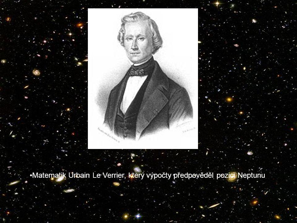Matematik Urbain Le Verrier, který výpočty předpověděl pozici Neptunu