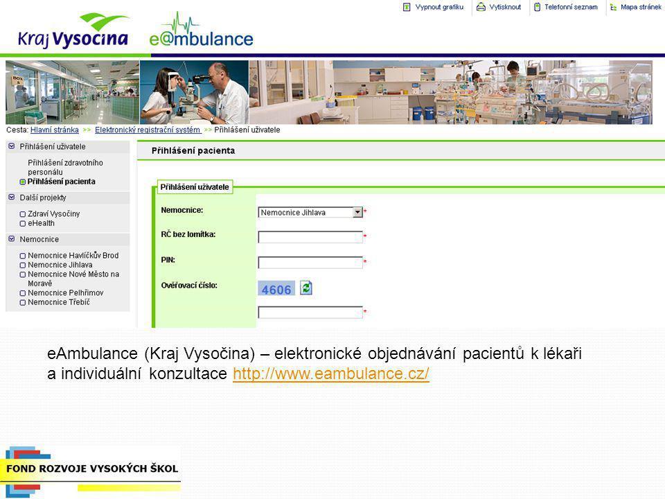 a individuální konzultace http://www.eambulance.cz/