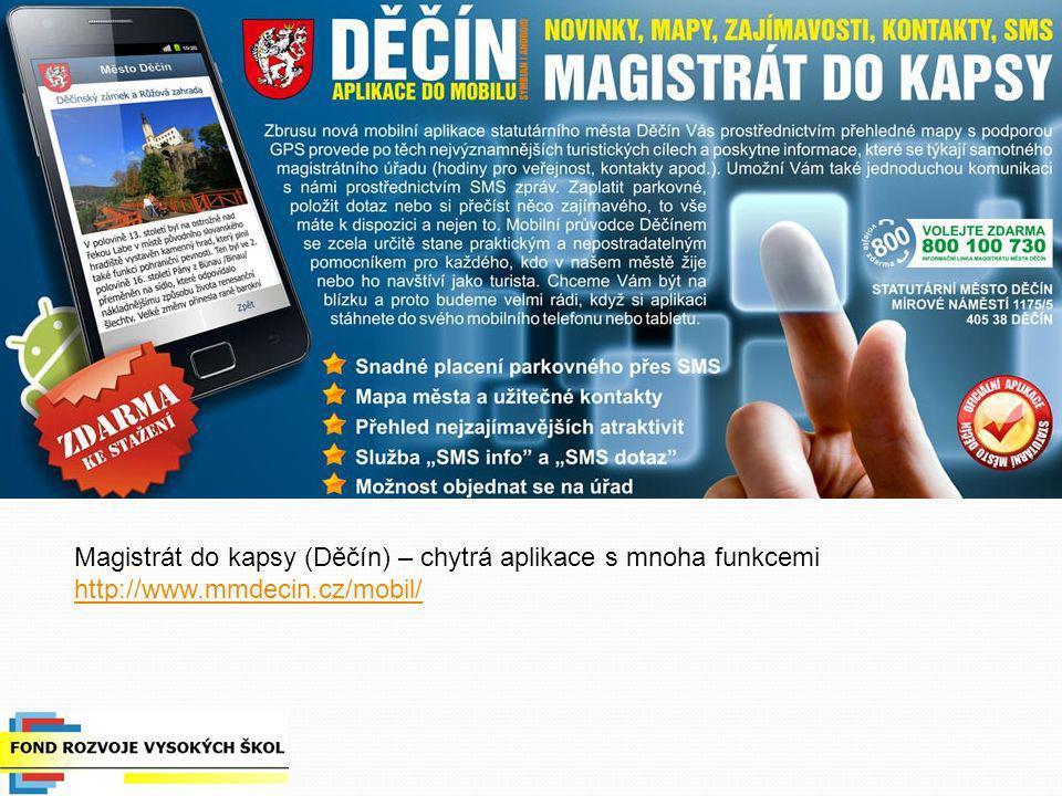 Magistrát do kapsy (Děčín) – chytrá aplikace s mnoha funkcemi
