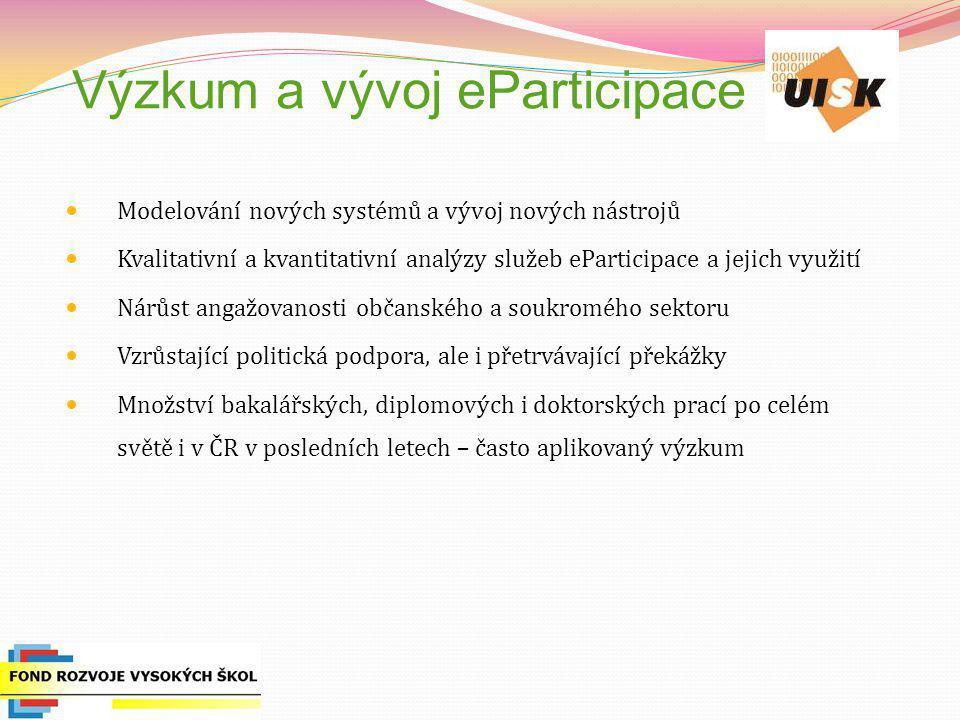 Výzkum a vývoj eParticipace