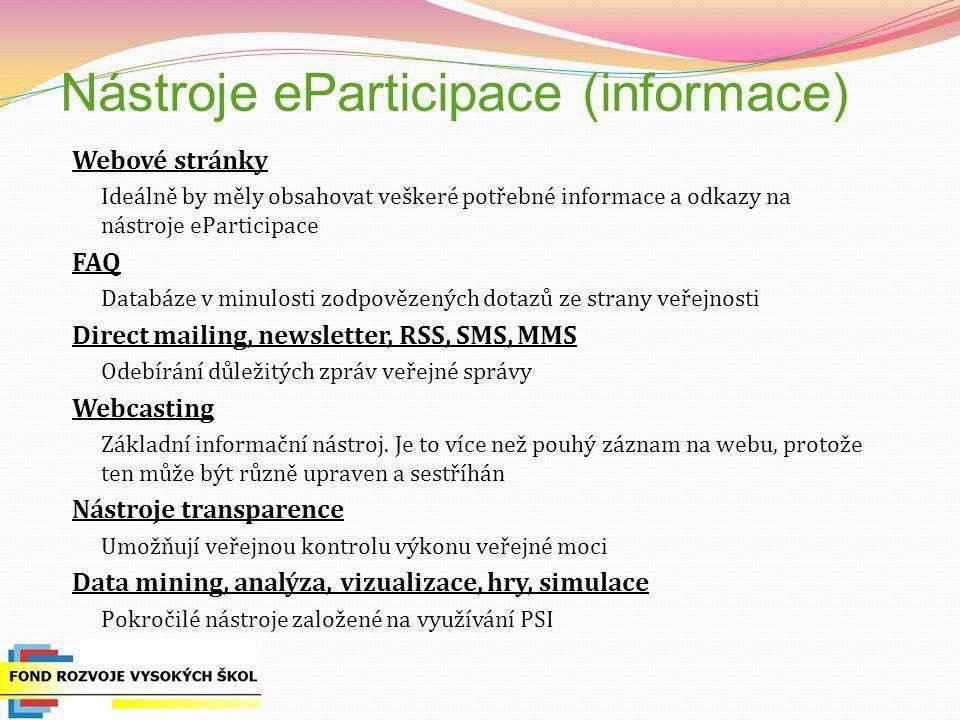 Nástroje eParticipace (informace)
