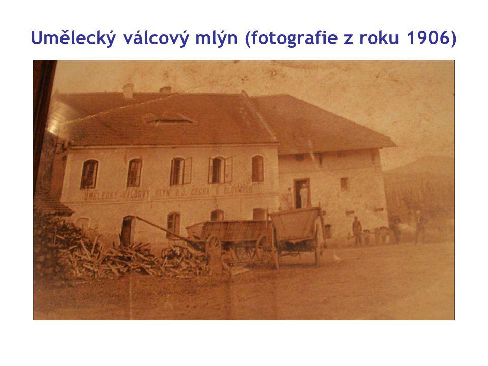 Umělecký válcový mlýn (fotografie z roku 1906)