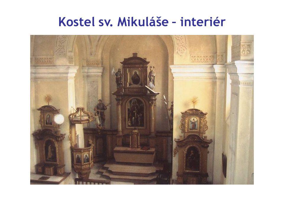 Kostel sv. Mikuláše – interiér