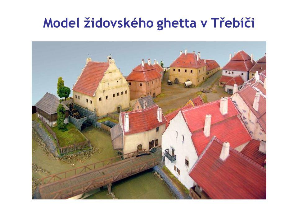 Model židovského ghetta v Třebíči