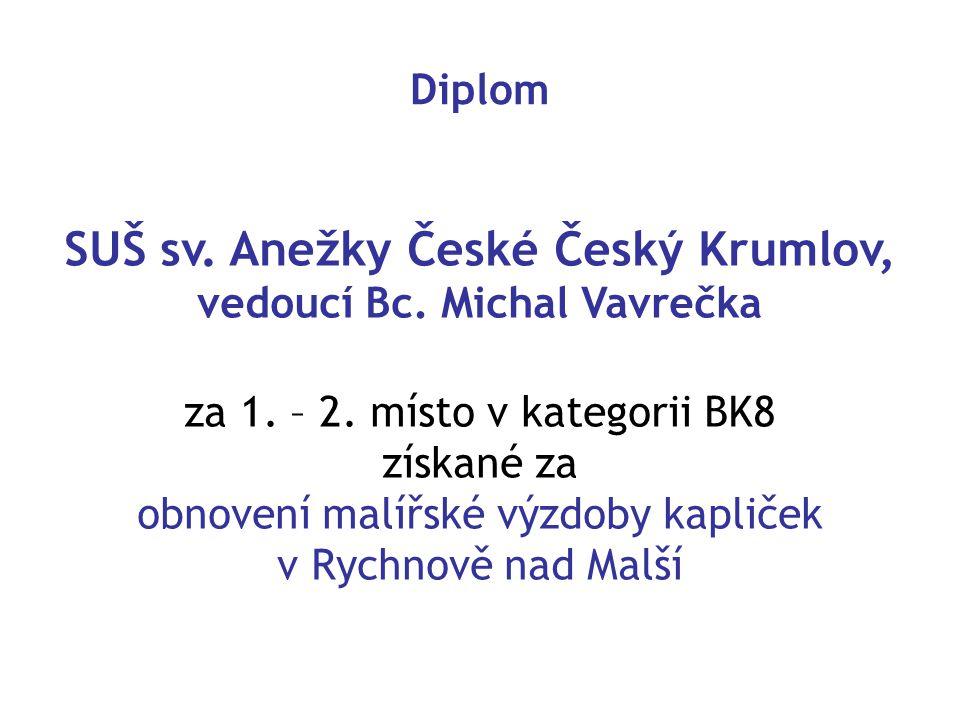 SUŠ sv. Anežky České Český Krumlov, vedoucí Bc. Michal Vavrečka