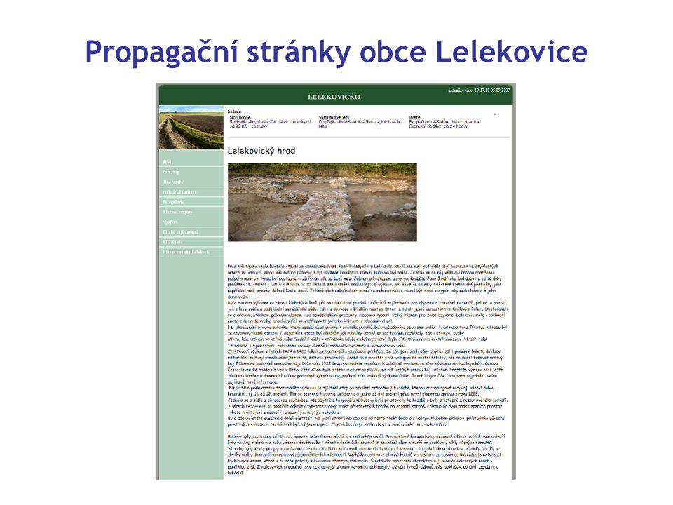 Propagační stránky obce Lelekovice