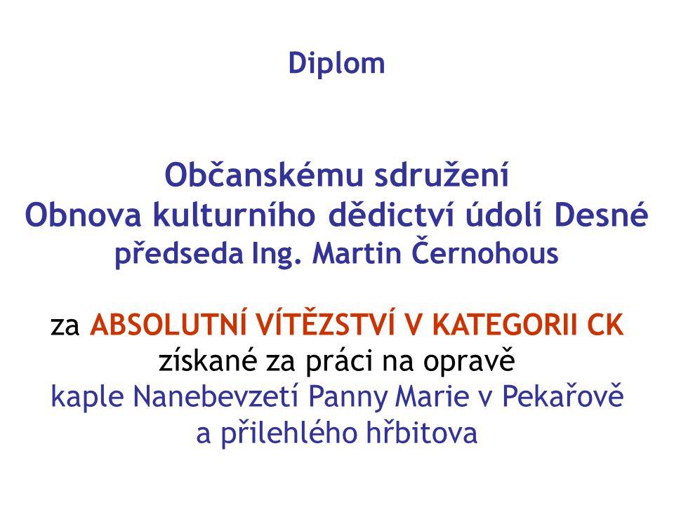 Obnova kulturního dědictví údolí Desné předseda Ing. Martin Černohous
