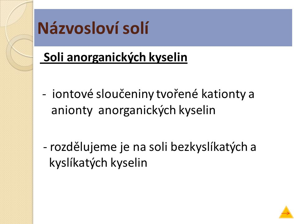 Názvosloví solí
