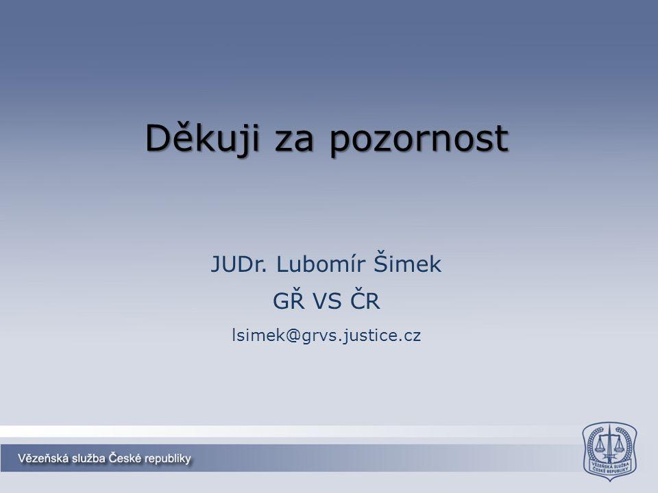 JUDr. Lubomír Šimek GŘ VS ČR lsimek@grvs.justice.cz