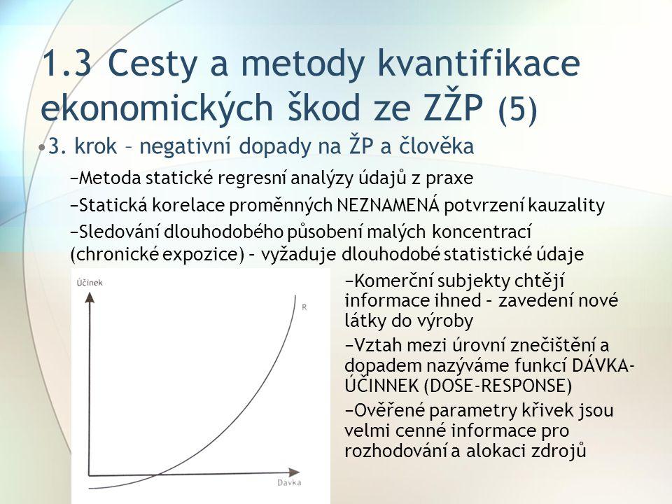 1.3 Cesty a metody kvantifikace ekonomických škod ze ZŽP (5)