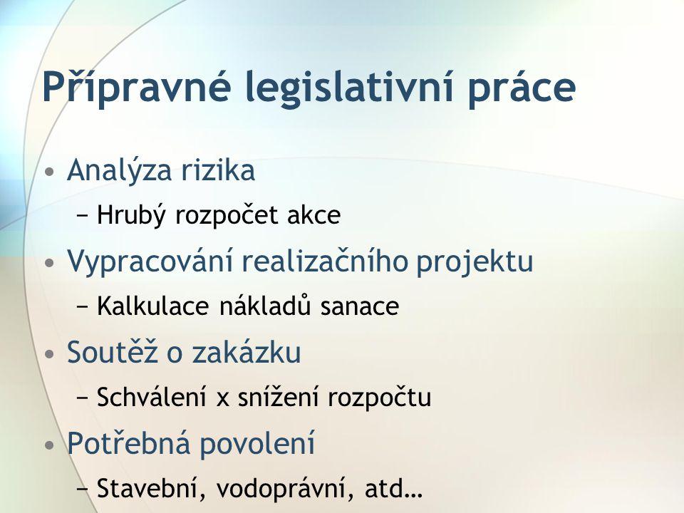 Přípravné legislativní práce