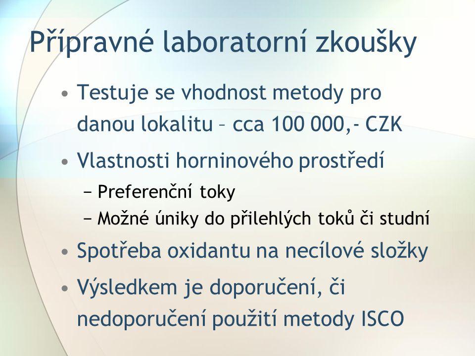 Přípravné laboratorní zkoušky