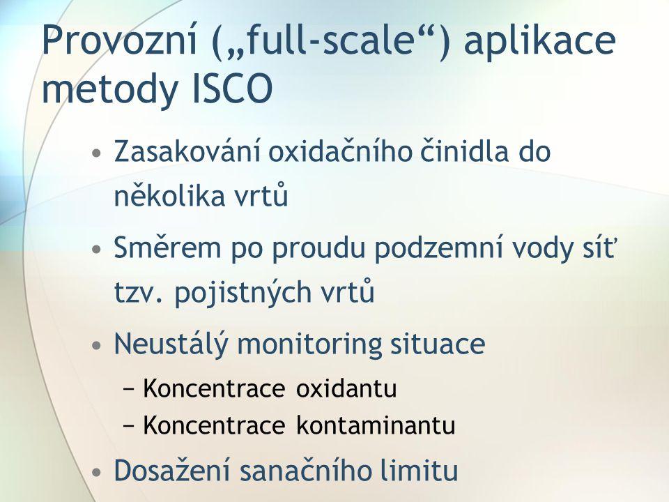 """Provozní (""""full-scale ) aplikace metody ISCO"""