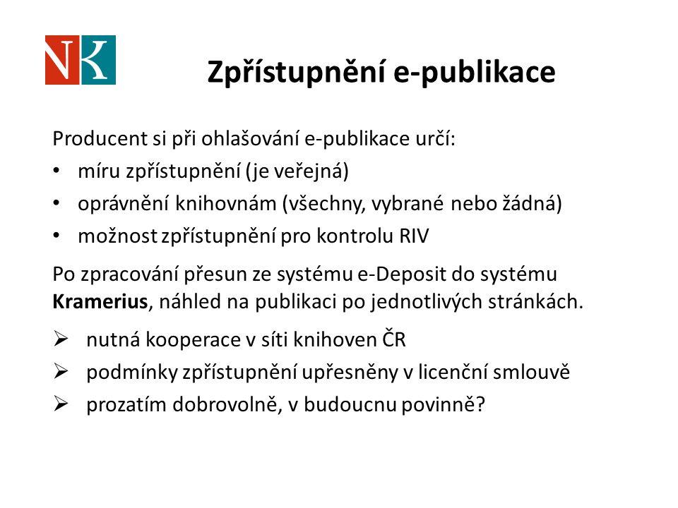 Zpřístupnění e-publikace