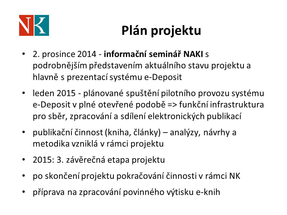 Plán projektu