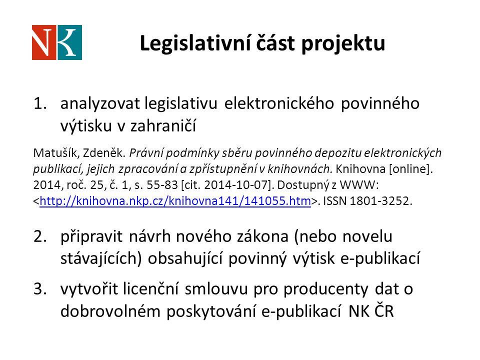 Legislativní část projektu