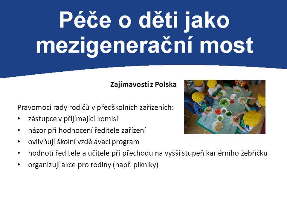 Zajímavosti z Polska Pravomoci rady rodičů v předškolních zařízeních: zástupce v přijímající komisi.