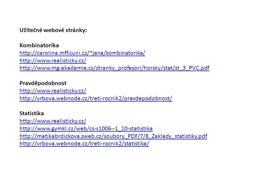 Užitečné webové stránky: