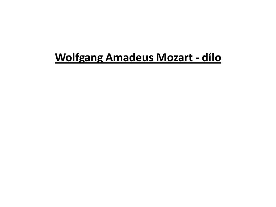 Wolfgang Amadeus Mozart - dílo