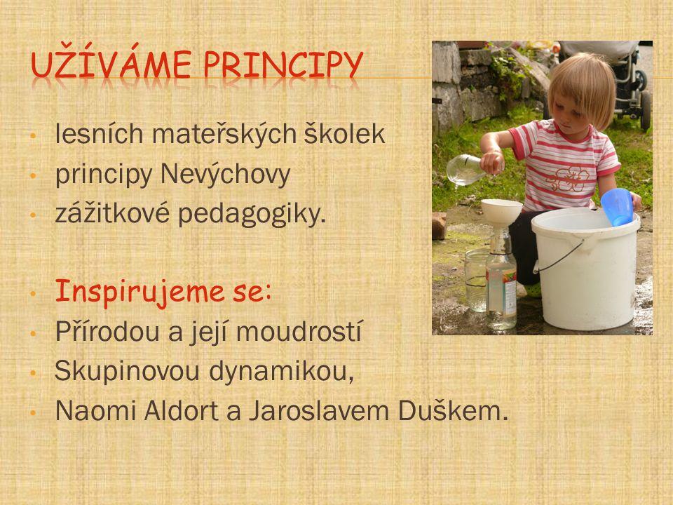 Užíváme principy lesních mateřských školek principy Nevýchovy