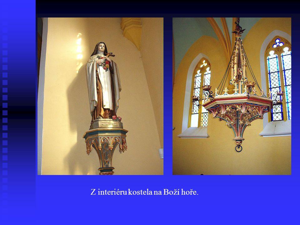 Z interiéru kostela na Boží hoře.