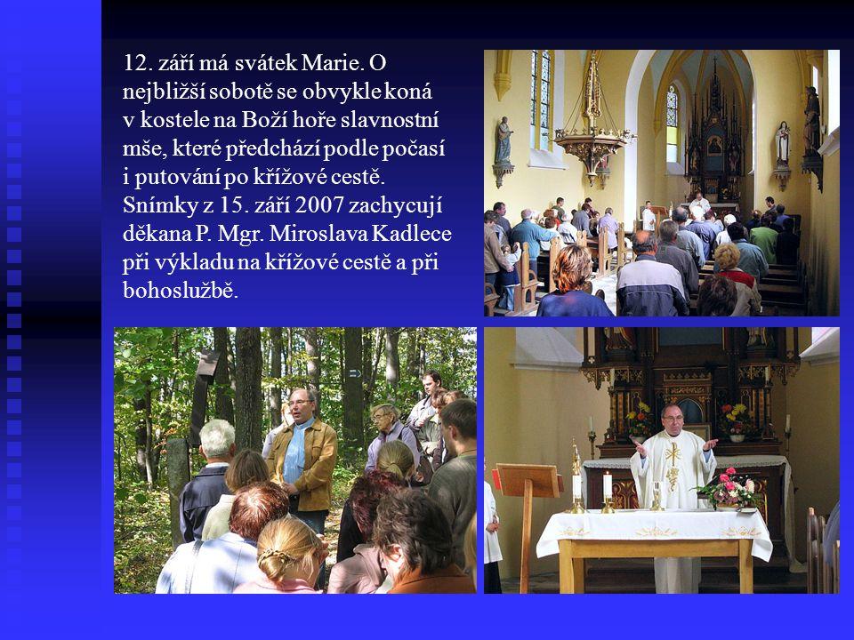 12. září má svátek Marie.