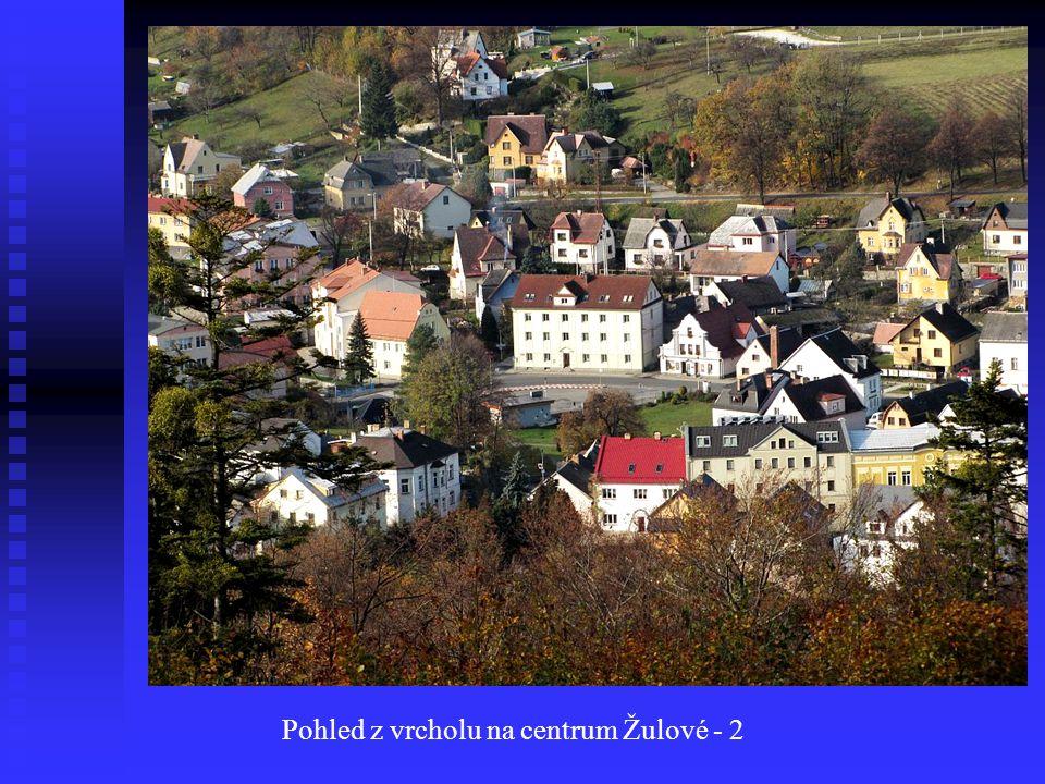 Pohled z vrcholu na centrum Žulové - 2