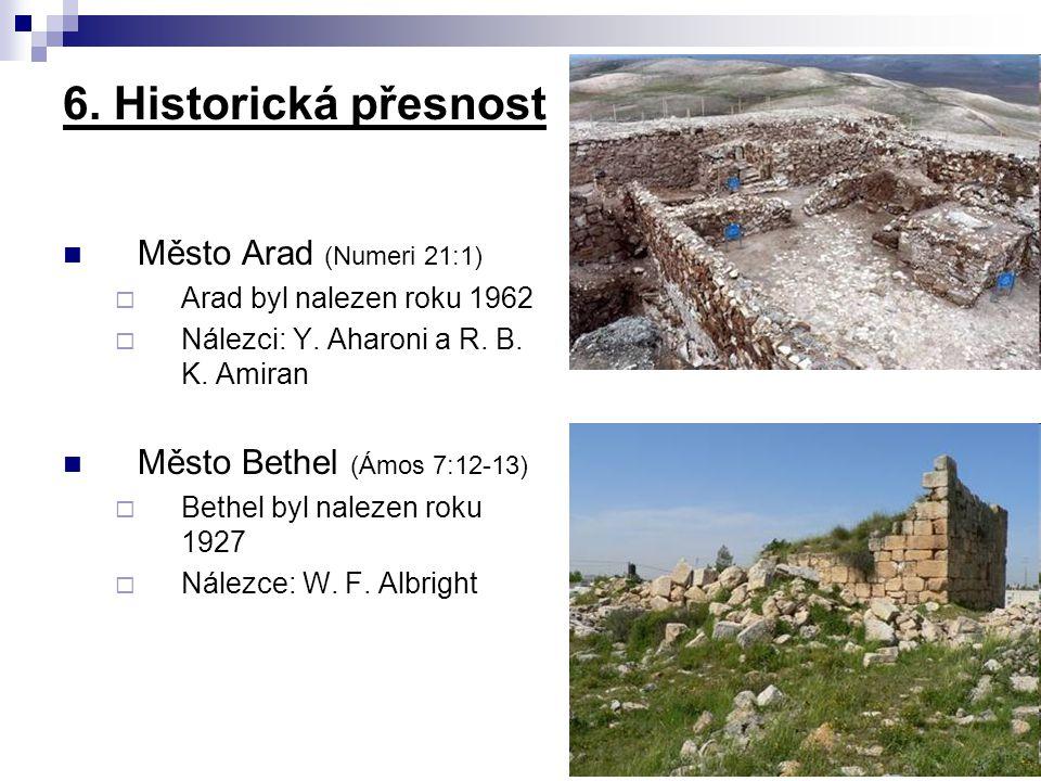 6. Historická přesnost Město Arad (Numeri 21:1)