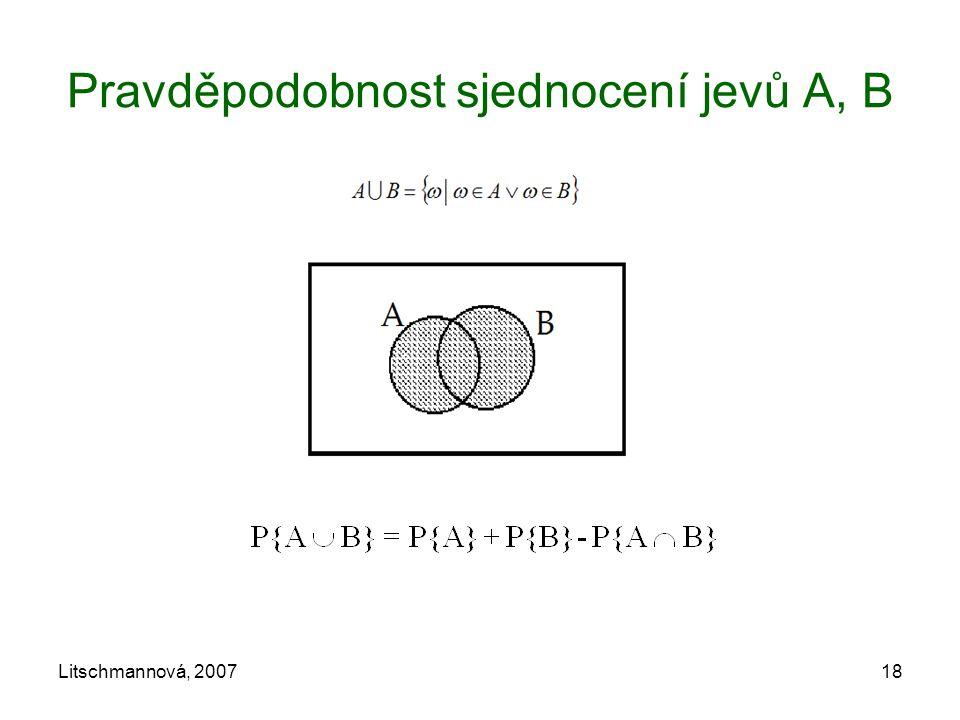 Pravděpodobnost sjednocení jevů A, B