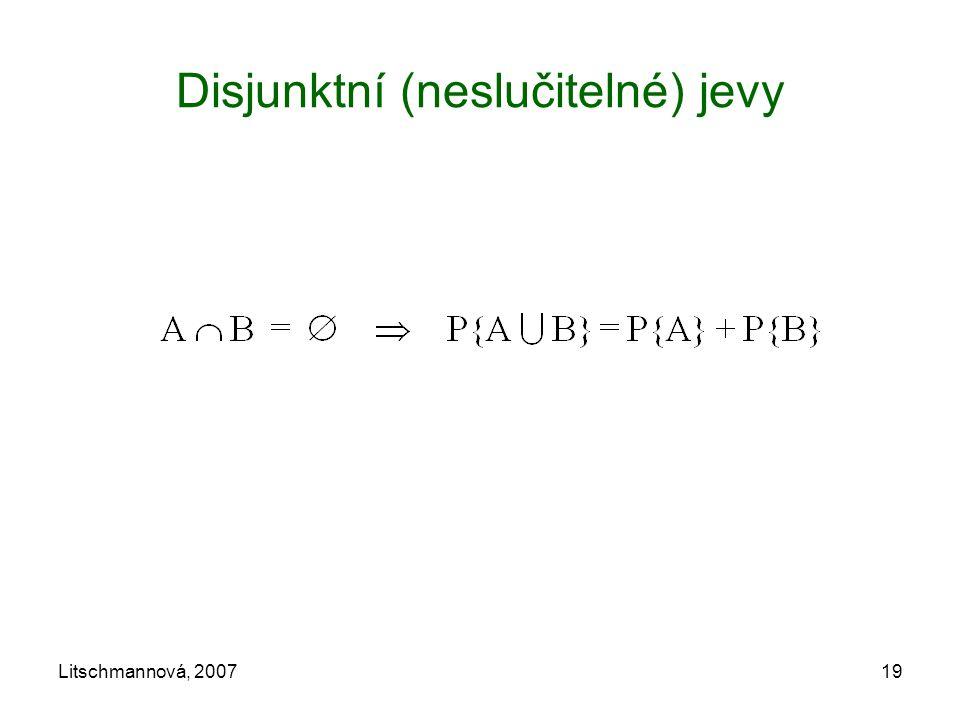 Disjunktní (neslučitelné) jevy