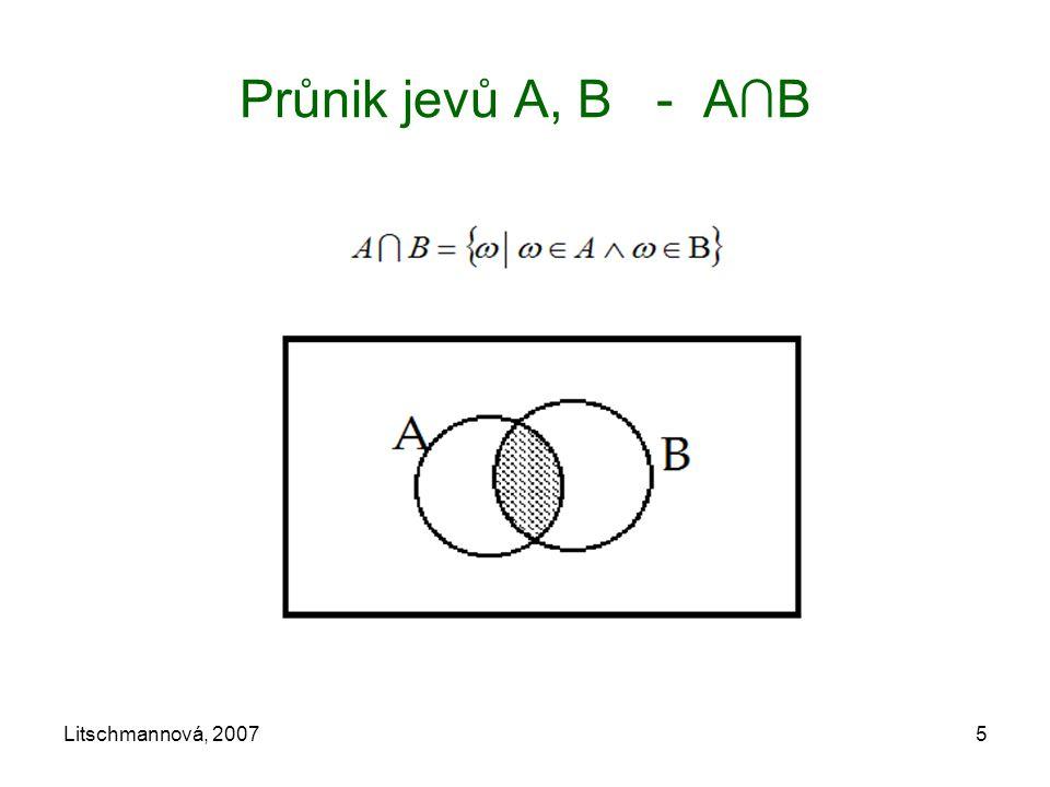 Průnik jevů A, B - A∩B Litschmannová, 2007