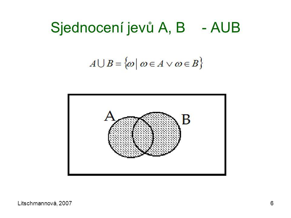 Sjednocení jevů A, B - AUB