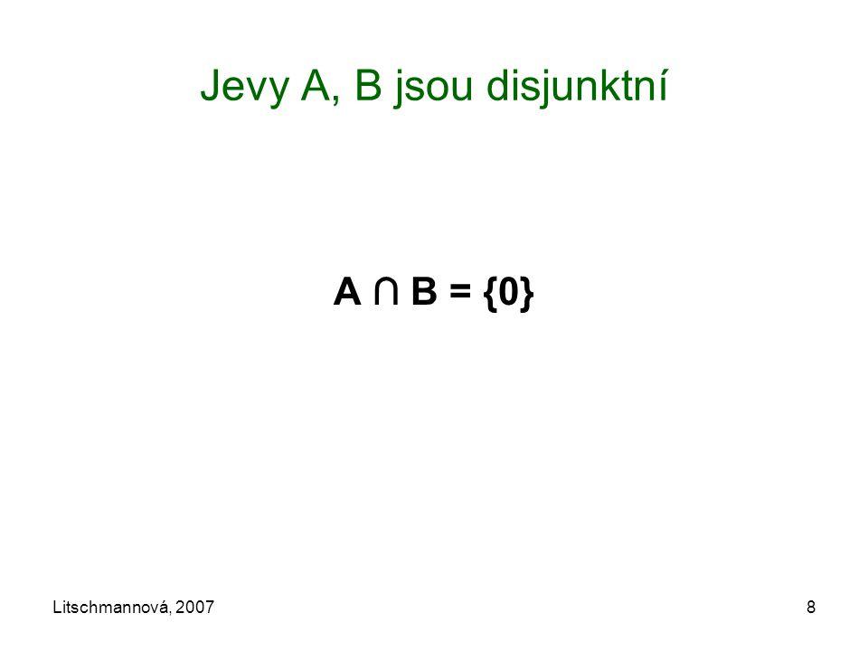 Jevy A, B jsou disjunktní