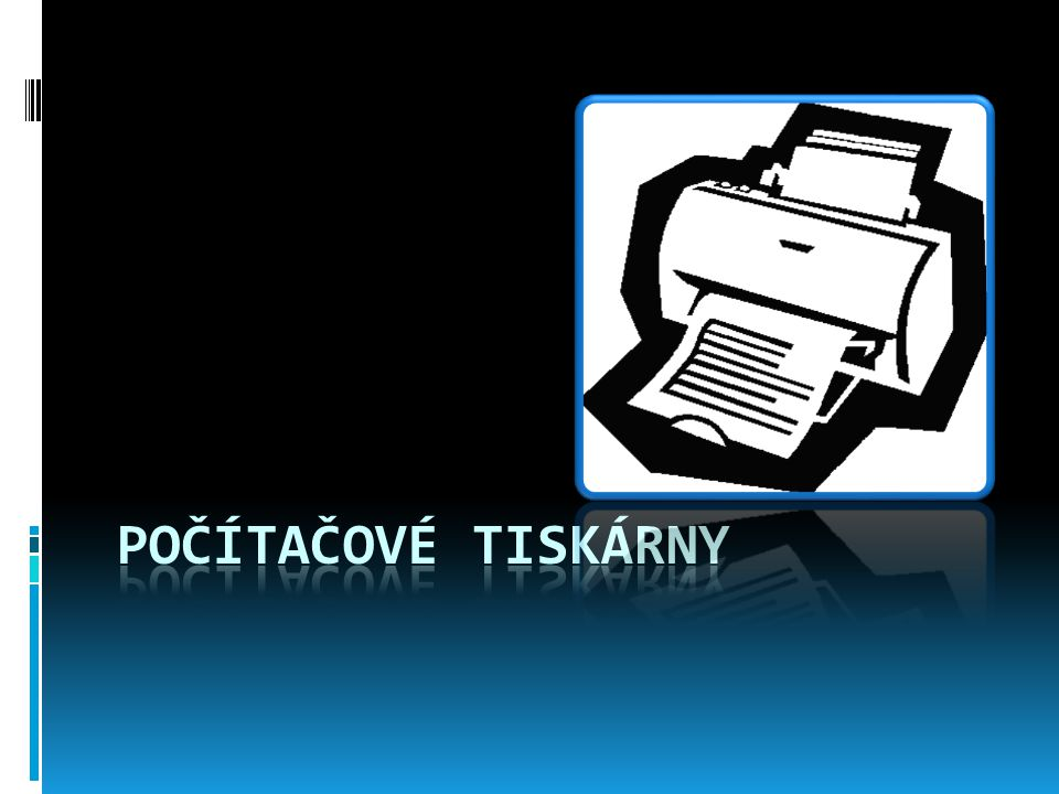 Počítačové tiskárny