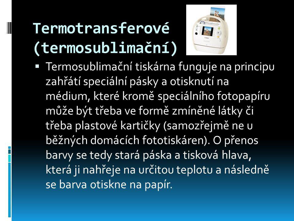 Termotransferové (termosublimační)