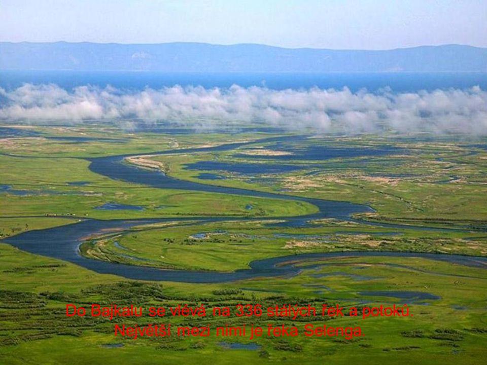 Do Bajkalu se vlévá na 336 stálých řek a potoků.