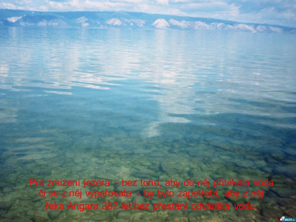 řeka Angara 387 let bez přestání odváděla vodu.