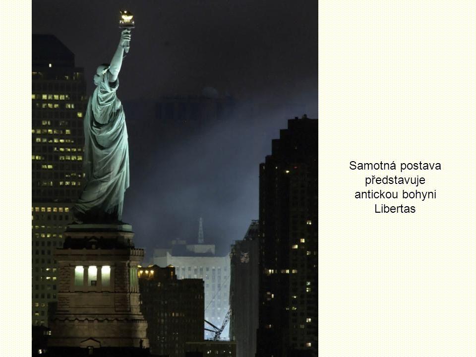 Samotná postava představuje antickou bohyni Libertas