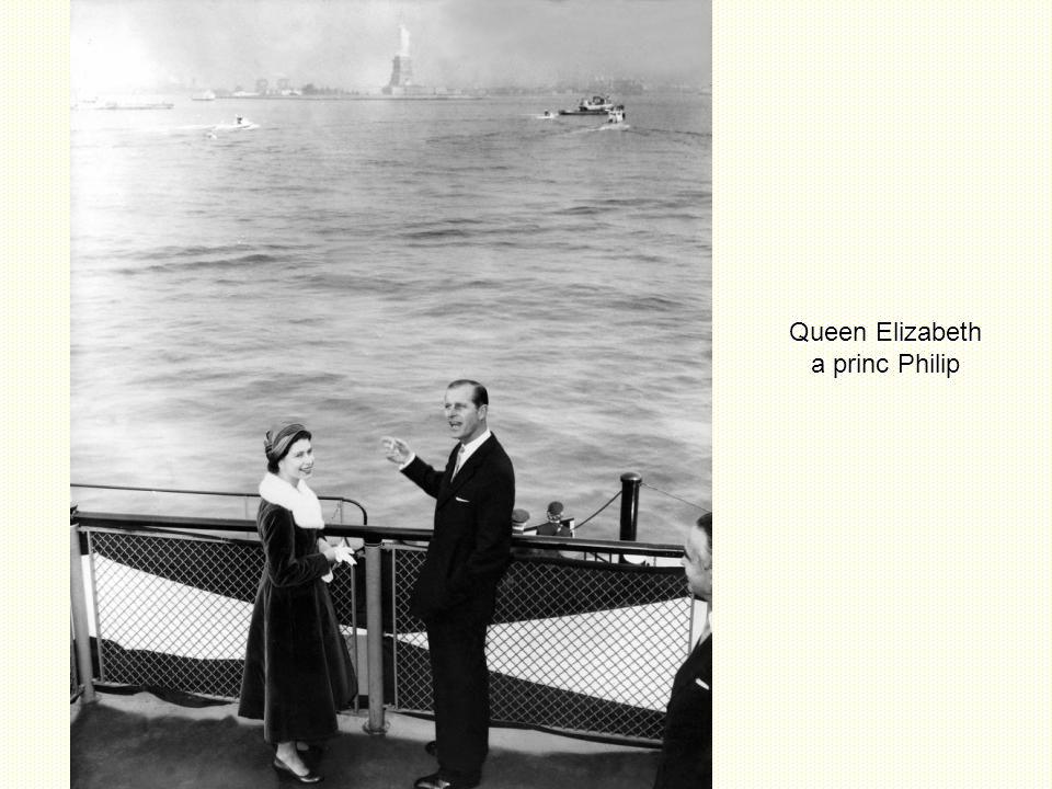 Queen Elizabeth a princ Philip